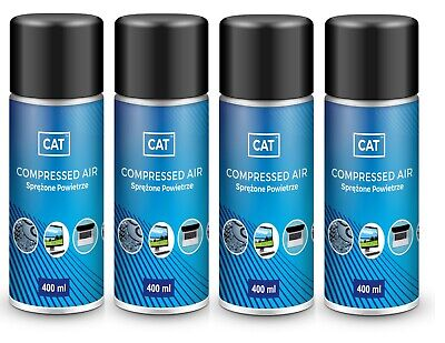 4 X 400ml Compressed Air Duster Gas Spray / Cleaner, MAX POWER 9 Bar • 12.99£