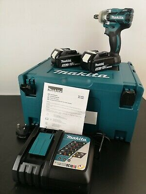 Makita DTW285RTJ 18V LXT Brushless Impact Wrench 1/2  Drive - 2x 5.0Ah Batteries • 345£
