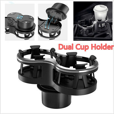 $23.25 • Buy 1X Black Plastic Universal Dual Cup Drink Bottle Holder Car Interior Accessories