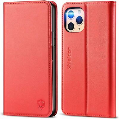 For IPhone 11 Pro Max Wallet Case Leather Flip Cover Kickstand RFID Blocking Red • 46.88£
