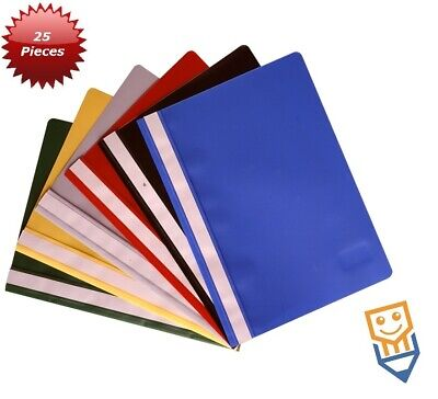 £4.89 • Buy 25 REPORT Presentation FILES A4 Mixed Cols PROJECT Document FOLDERS Clear Front