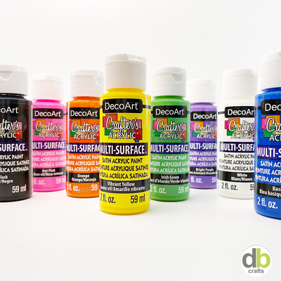 DecoArt Multi Surface Satin Crafter's Acrylic Paint 2oz 59ml  • 2£
