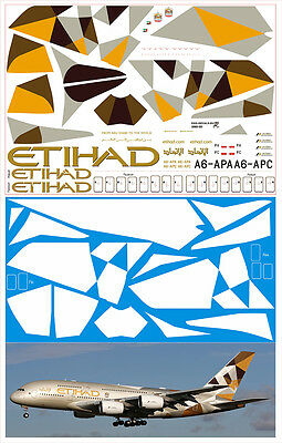1/144 PAS-DECALS. Revell. Airbus A-380 Etihad New  • 14.31£
