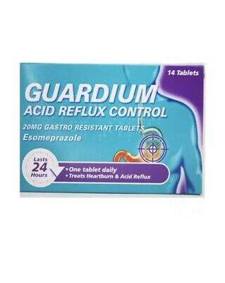 GUARDIUM Tablets Heartburn And Acid Reflux Control By Gaviscon, Pack Of 14 • 12.79£