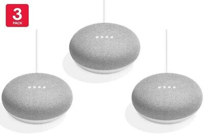 AU199 • Buy Google Nest Mini NEW (2nd Gen) Smart Speaker Google Assistant AU Model 3 Pack