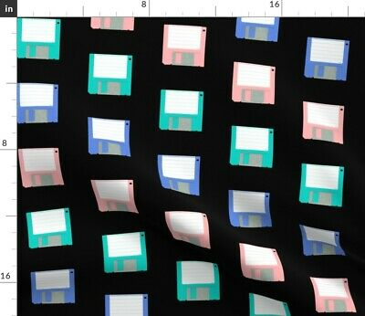 $22 • Buy Computer Tech Technology Floppy Disk Diskette Fabric Printed By Spoonflower BTY