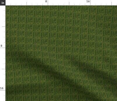 $20.50 • Buy Robots Circuit Board Green Computer Electronic Fabric Printed By Spoonflower BTY