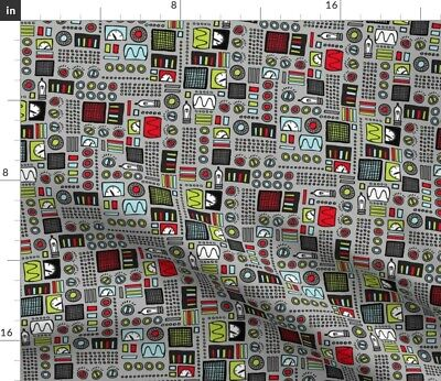 $22 • Buy Robot Technology Computer Machine Engineer Fabric Printed By Spoonflower BTY