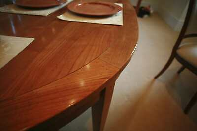 Extending French Grange Table Six Chairs Two Carvers - Immaculate Cherry • 1,400£