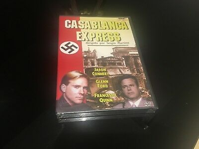Casablanca Express DVD Sergio Martino Jason Connery Glenn Ford Franesco Quinn • 14.06£
