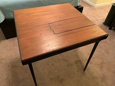 $225 • Buy Vintage Singer Featherweight 221-1 Sewing Machine Folding Table With Insert