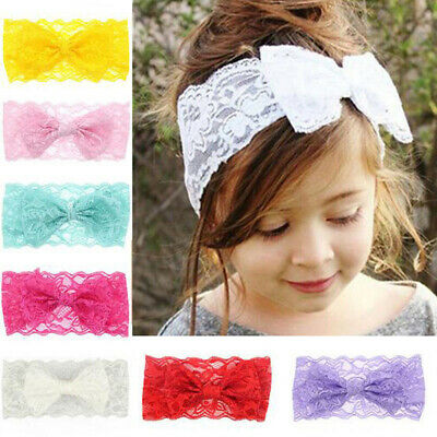 $0.99 • Buy 7PCS Kids Girl Baby Headband Toddler Lace Bow Flower Hair Band Accessories