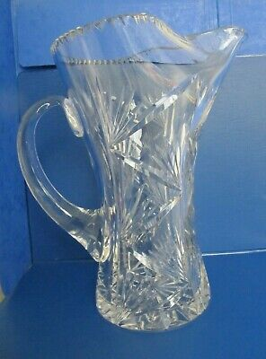 £14.50 • Buy Large Cut Glass Lead Crystal Water Jug Pitcher
