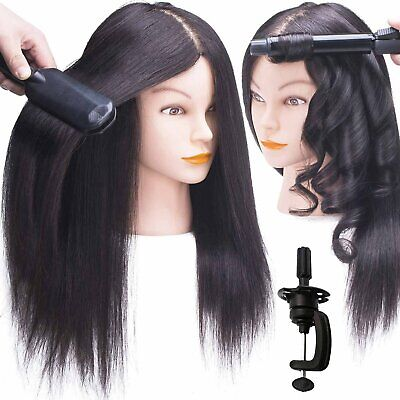 $71.50 • Buy  100% Real Human Hair Mannequin Head Hairdressing Training Head + Stand US