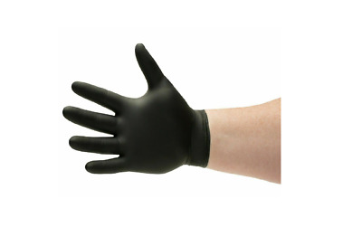 $ CDN37.46 • Buy NEW Black Nitrile Gloves 6 Mil Powder-Free Size: Large 100 Pieces NEW..