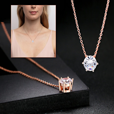 Glittering Classic Six-claws 18K Rose Gold Plated Clavicle Choker Chain Necklace • 4.99£