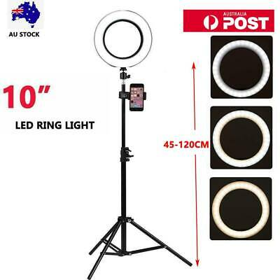 AU69.99 • Buy 10' 6000K Dimmable LED Ring Light Diffuser Stand Mirror Make Up Studio Video AU