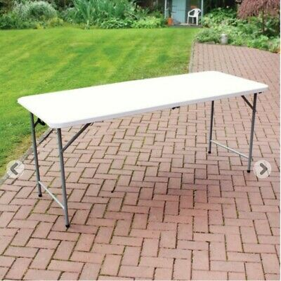 Quality Plastic Folding Heavy Duty Garden Table 6ft  • 39£