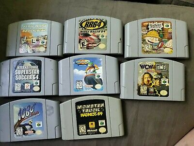 $ CDN107.39 • Buy N64 Game Lot Of 8 Authentic Nintendo Cartridges Only -Tested!