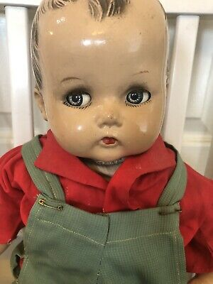 $20.50 • Buy Antique / Vintage Composition Doll: 22 Inch: Open & Close Eyes: Cloth Body