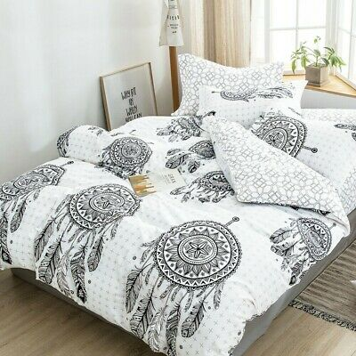AU29 • Buy Single/KS/Double/Queen/King/SK Soft Quilt/Duvet Cover Set-Mandala Dream Catcher