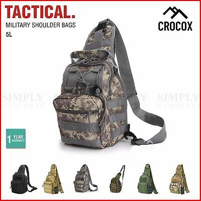 AU19.99 • Buy Crocox Tactical Shoulder Bag Sling Messenger Military Chest Pack Fanny Backpack