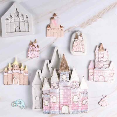 Castle Fairy Tale Silicone Fondant Mould Cake Decoration Baking Chocolate Mold • 3.25£