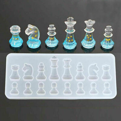 £3.58 • Buy Crystal Chess Silicone Pendant Jewelry Mold Resin Epoxy Casting Mould Craft Tool