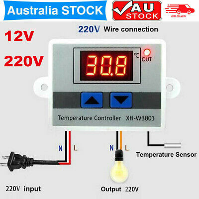 AU15.94 • Buy Digital Electric LED Temperature Controller Thermostat Switch +2 Relay Output AU