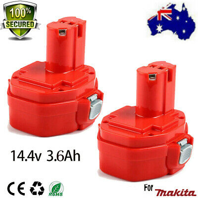 AU53.99 • Buy 2X3.6Ah 14.4V Battery For Makita 1420 1422 1433 NI-MH 6237D 6932FD PA14 192699-A