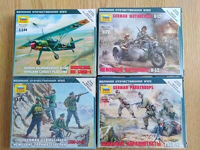 Zvezda Model Sets,  Inc Plane, Soldiers, Motorcycle. Airfix, Revell  • 9.99£