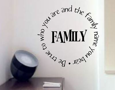 £15 • Buy Be True To Family Name  Lounge  Vinyl Wall Art Decal Sticker
