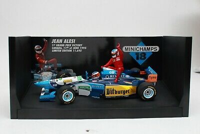 $375 • Buy Minichamps F1 1/18 1995 Jean Alesi Taxi - Michael Schumacher Collection Tobacco