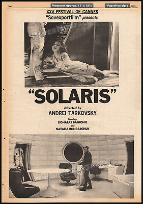 $295 • Buy SOLARIS__Original 1972 Trade AD / Poster__ANDREI TARKOVSKY__Cannes Film Festival
