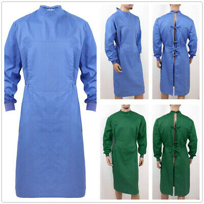 £22.66 • Buy Unisex Medical Cotton Surgical Gowns Trousers Hospital Scrubs Uniform Lab Coat