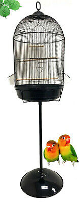 $66.45 • Buy 58  Round Dome Bird Flight Cage With Stand For Finches Budgies Canaries Aviary