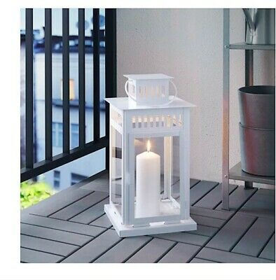 $19.99 • Buy BORRBY Lantern For Block Candle White Indoor/Outdoor White Wedding Decore Party