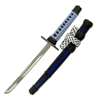 £9.13 • Buy Blue 8  Samurai Style Sword Shaped Letter Opener Sheath Stand And Mirror Finish