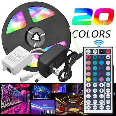 $14.79 • Buy 5M Flexible Strip Light 3528 RGB LED SMD Remote Fairy Lights Room TV Party Bar