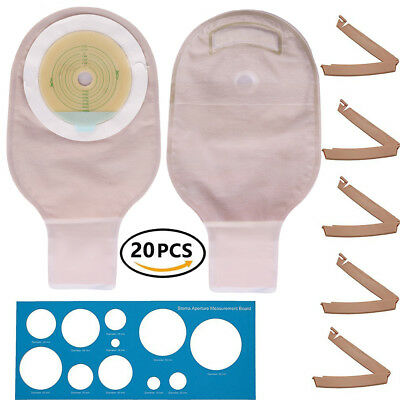 $19.99 • Buy Ostomy Colostomy Ileostomy Stoma Drainable Pouch Bag Cut To Fit One-Piece System