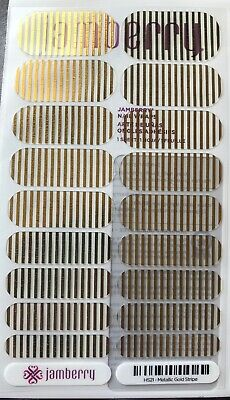 AU10 • Buy Jamberry Metallic Gold Stripe - Full Sheet