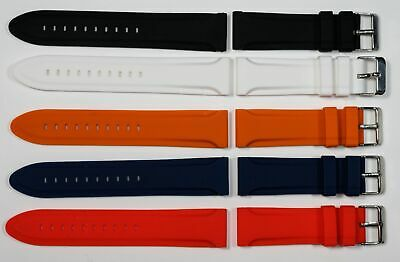 $ CDN26.32 • Buy Thick Rubber Silicone Watch Strap For Rolex Omega 18mm -24mm Soft Band Diving