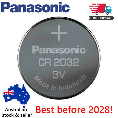 AU3.19 • Buy 2 X  Genuine Panasonic CR2032 LOOSE Packing Battery 3V Lithium Batteries Button