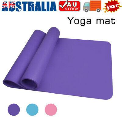 AU18.52 • Buy Extra Thick EVA Yoga Gym Pilate Mat Pad Fitness Non Slip Exercise Board Sports