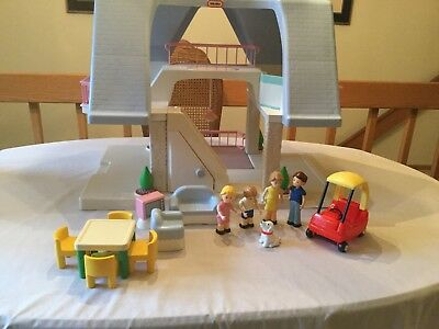 $155 • Buy Vintage Little Tikes Place  Doll House, Blue Roof Lot, Wisc. Pick Up, Euc, 5550