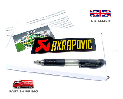 AKRAPOVIC 3D MOTORCYCLE EXHAUST HEAT PROOF RESISTANT ALUMINIUM STICKER 145cm • 4.99£