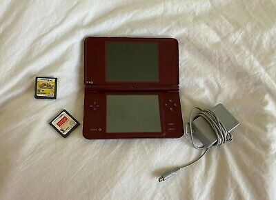 $75 • Buy Nintendo Dsi XL Maroon With Charger, No Stylus, With Kirby Superstar Ultra