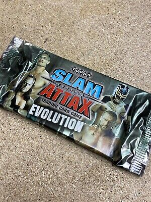 Sealed Packet Of Topps WWE Slam Attax Evolution  Cards 6 Cards Cena Undertaker • 3.69£