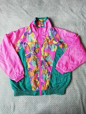 Womens Size Medium Approx 10-12 Shell Suit Jacket Vintage Retro 80's • 10£