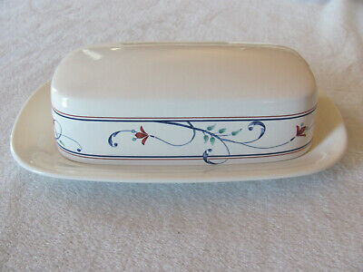 $34.99 • Buy Mikasa Intaglio Annette CAC20- Red Flowers -1/4 Lb Covered Butter Dish-2 Avail